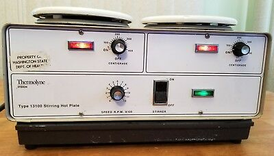 Thermolyne Type 13100 Stirring Hot Plate Tested and works Great