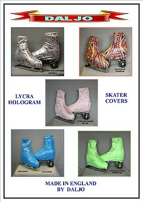 Ice Skating / Roller Skating  Lycra Hologram Boot Covers H1