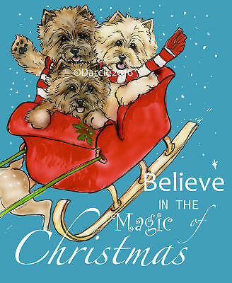 Cairn Terrier Believe note cards add a short message inside Free