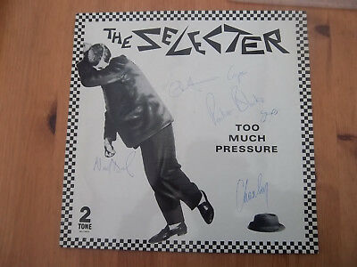 Selecter Too much pressure signed album cover.