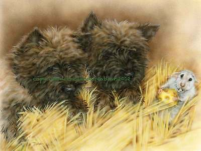 Cairn Terrier  note cards add a short message inside Free