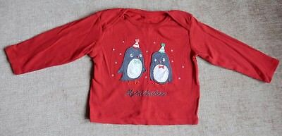M&S baby girls Christmas top 9-12 months- worn once