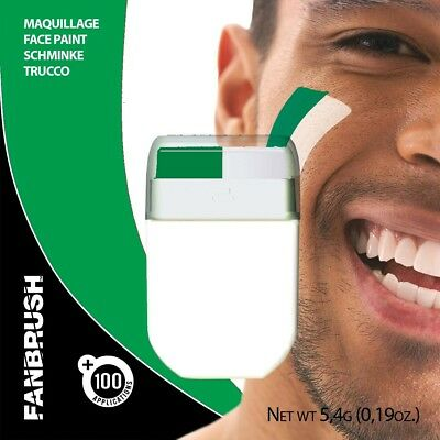 Face Paint Green/White colours Fanbrush