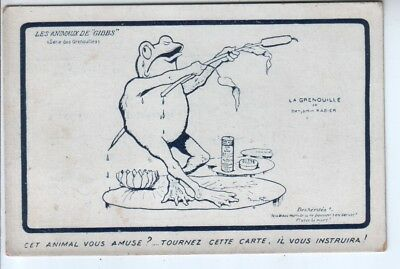 French Ad for Gibbs Toothpaste - Artist Drawn Comic Frog