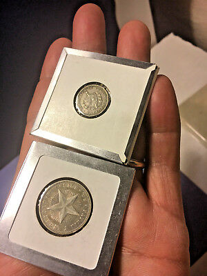 1916 Caribbean  2 Silver Coins Lot, Excellent Condition!