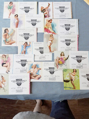 """VINTAGE 50s- 60s  """"GIRLIE"""" INK BLOTTERS FROM MN SUPPLY CO"""