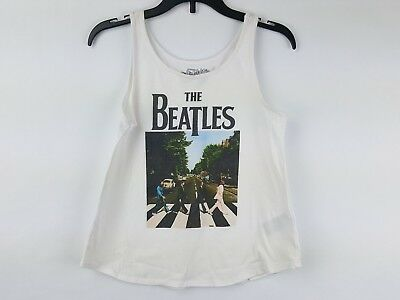 Old Navy Collectabilitees The Beatles Girls Tank Top White Size Large 10-12