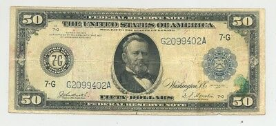 $50 Series 1914 Federal Reserve Notes - nice looking and firm paper