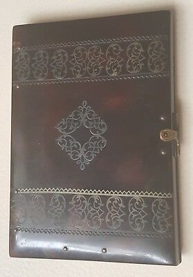 Antique 19th Century faux Tortoiseshell Calling Card/Notebook Case Holder. Vgc