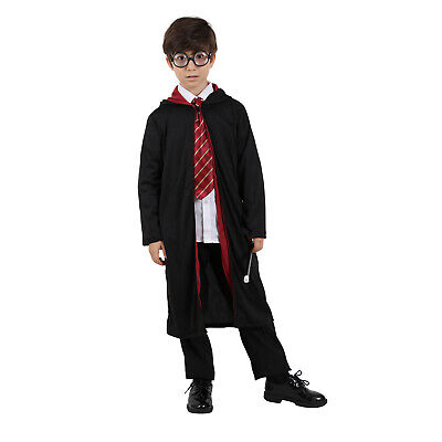 New Harry Potter Cape Cosplay Costume Unisex Robe Cloak Tie Glass Wand