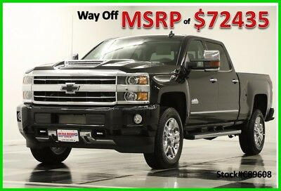 2018 Chevrolet Silverado 2500 HD MSRP$72435 4X4 High Country Diesel Black Crew New 2500HD Duramax Sunroof Heated Cooled Leather DVD Player 17 2017 18 Cab 6.6L