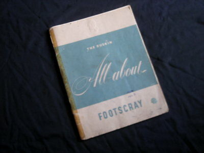 Vintage Booklet 'ALL ABOUT FOOTSCRAY', Ruskin, 1953- Advertising, COR, TAA, Maps