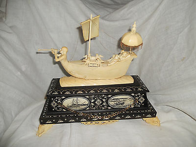 Antique Anglo Indian Boat Sculpture Artist:Victorian N.Veloo Achary 50%0ff
