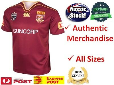 Queensland Maroons State of Origin 2017 NRL On Field Jersey BRAND NEW