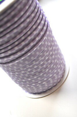 PIPING band Biese 1 Meter Sewing Haberdashery 100% Cotton Piping POINTS Lilac
