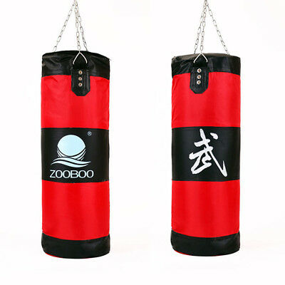 New 100cm Training Fitness MMA Boxing Bag Hook Hanging saco de boxe Kick Fight B