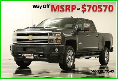 2017 Chevrolet Silverado 2500 MSRP$70570 4X4 High Country Diesel DVD Sunroof Gra New 2500HD Duramax GPS Navigation Heated Cooled Leather Seats Cab 4WD 6.6L