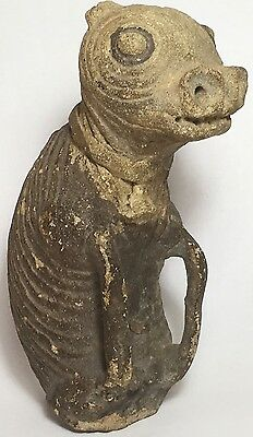 Antique PRE COLUMBIAN Zoomorphic FERTILITY STATUE Vessel Figure Phalic POTTERY