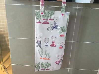 Baby Nappy Sling/Baby Nappy Stacker, Mice in the Garden, Handmade, New