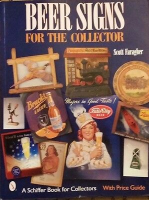BEER SIGN MEMORABILIA ID VALUE GUIDE COLLECTOR'S BOOK Clock Lantern Electric