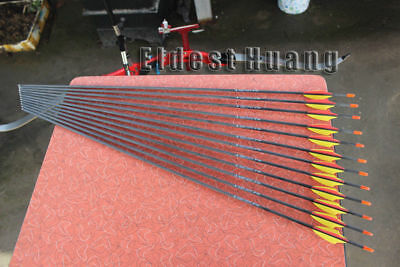"""30"""" Archery Carbon Arrows Recurve Bow Targets Shooting Practice ID 4.2 Spine 700"""