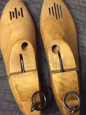 Shoemaker Wood Form Mold Pair Vintage