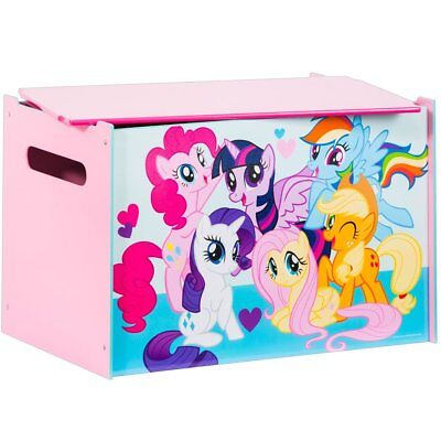 My Little Pony Wooden Toy Box Kids Child Books Clothes Chest Pink WORL920001