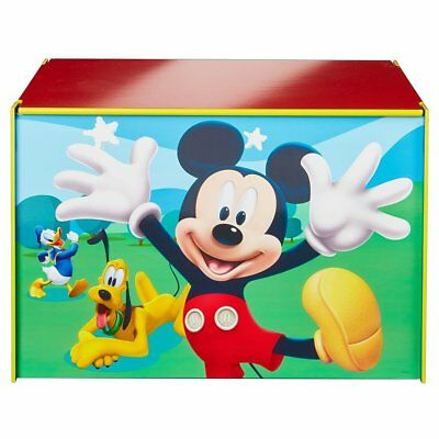 Disney Toy Box Mickey Mouse Children Books Clothes Chest Blue Wood WORL119012
