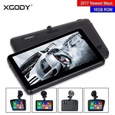Xgody 884 Sat Nav 16Gb Car Truck Gps Navigation + Au/eu Maps + Lifetime Updates