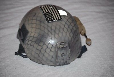 Sf Navy Seals Delta Ballistic Helmet X Harness Modified Mid Cut 132B W Mount