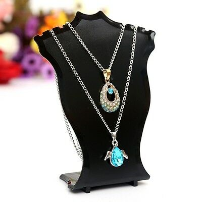Necklace Chain Pendant Earring Jewelry Bust Display Holder Stand Showcase Rack