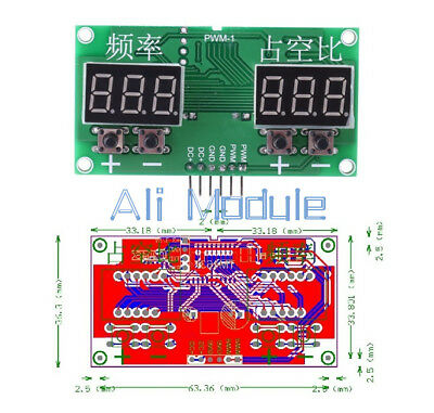 6Hz-100KHz PWM Pulse 0-99% Frequency Square Wave Signal Generator Duty Cycle AM