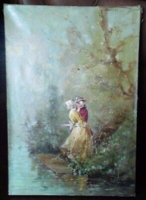 George Appert Antique Oil Painting *circa* 1880 on canvas