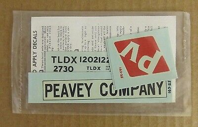New Old Stock Walthers O Scale Decals -  Peavey Company Tldx Ps Hopper #163250