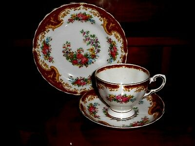 "Old / Vintage 1940/50's Tuscan ""NAPLES"" cup, saucer & plate (trio)"