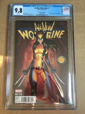ALL-NEW WOLVERINE #1 (2016) CGC 9.8 J Scott Campbell Cargo Hold X-23