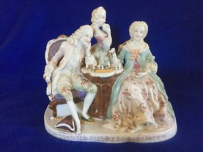 Antique porcelain figurine - chess players