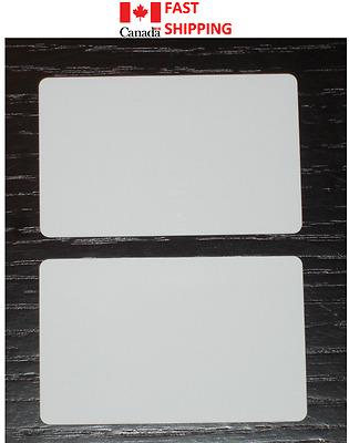10pc Blank Plastic Craft Vinyl White Cards (Credit Size) Printable on Both Sides