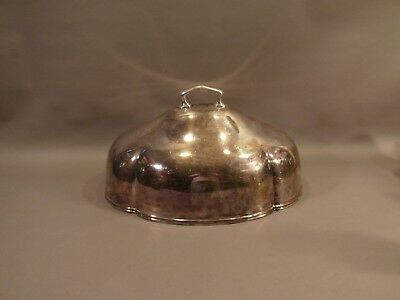 Big Antique Reed Barton Silver Soldered Silverplate Meat Dome Food Cover NO MONO