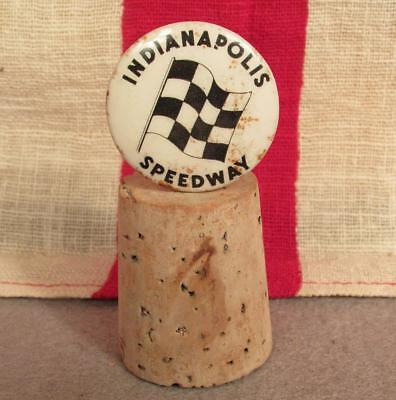 Vintage Indianapolis Speedway Collectible Pin Button early Antique Indy Car 500