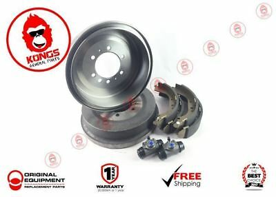 Rear Brake Drums + Shoes + Wheel Cylinders Pack Holden Hq Hj Hx Hz 1971-85