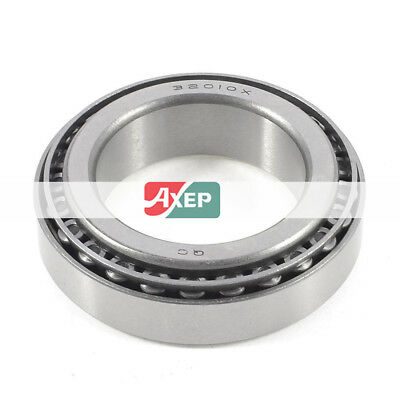 32010X  50 x 80 x 15mm Single Row Taper Tapered Roller Wheel Bearing Silver Tone