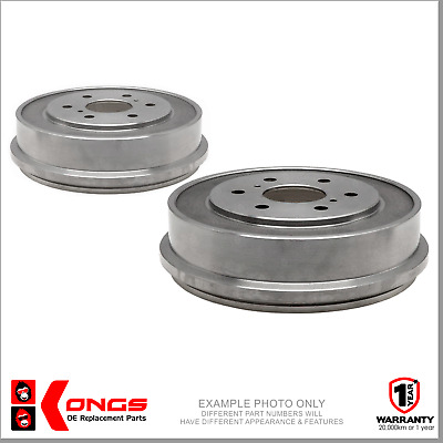 PAIR OF REAR BRAKE DRUMS for HOLDEN HQ HJ HX HZ 1971-85