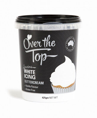 Buttercream Icing Ready to Use OTP White Red Black Chocolate Coloured NEW 425g