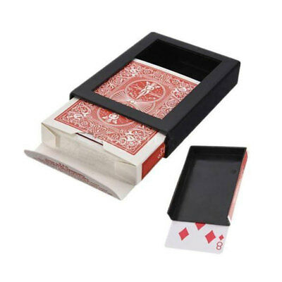1X Deck Disappearing Card Case Close Up Magic Trick Box VANISHs CARDS