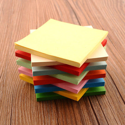 100Pc Origami Square Paper Double Sided Coloured Craft Scrapbooking 8CM