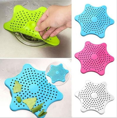 Silicone Sink Seastar Type Filter Bathroom Stopper Colanders Strainers