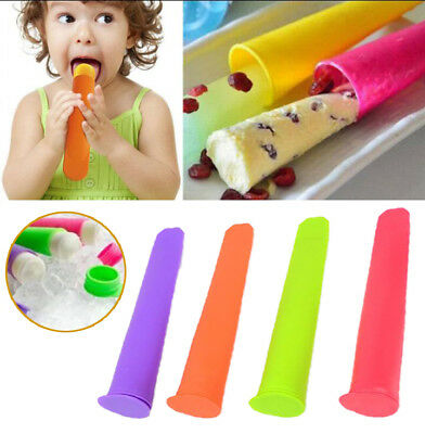 Silicone Push Up Ice Cream Jelly Popsicle Maker Mould Mold DIY Popsicle Mould