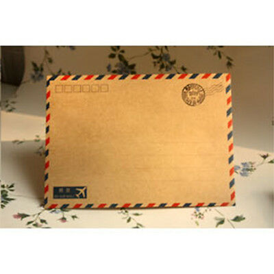 10pcs Beauty Coffee kraft Air Mail Envelope Sized Stationary Storage Gift New