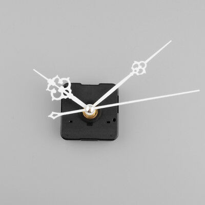 Silent Clock Quartz Movement Mechanism White Hand DIY Replacement Part Kit Tool